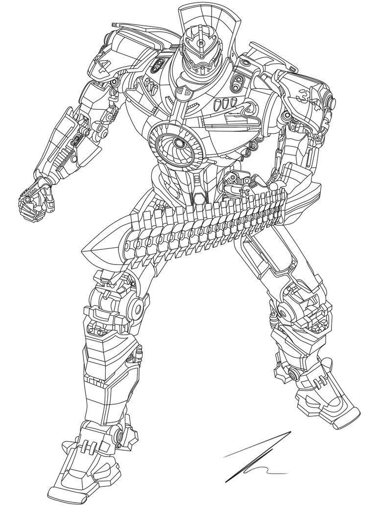 Pacific Rim Gipsy Danger Coloring Pages Titanes Del Pacifico Transformers Para Colorear Dibujos