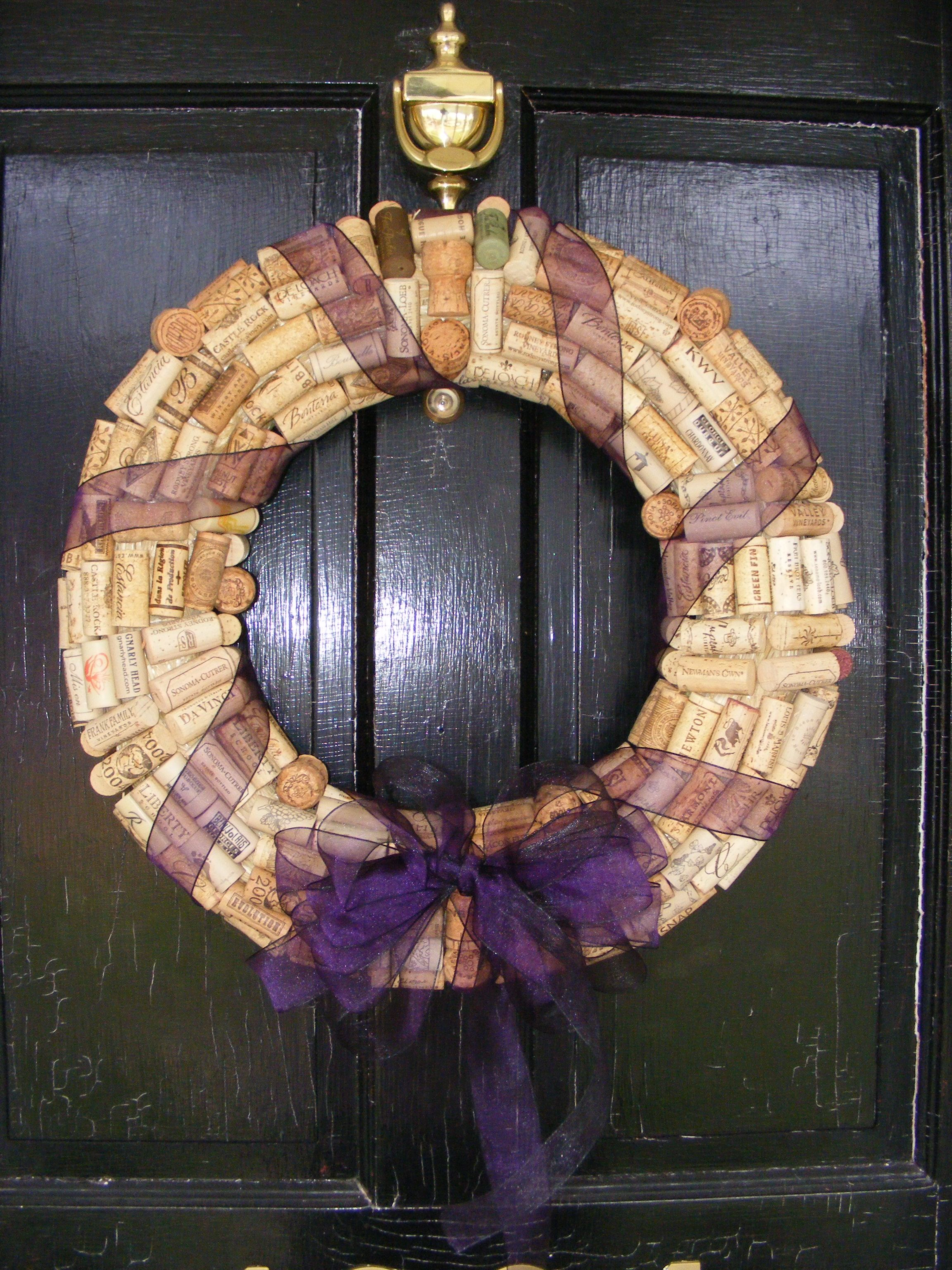Check out my cool wine cork wreath just buy a form and