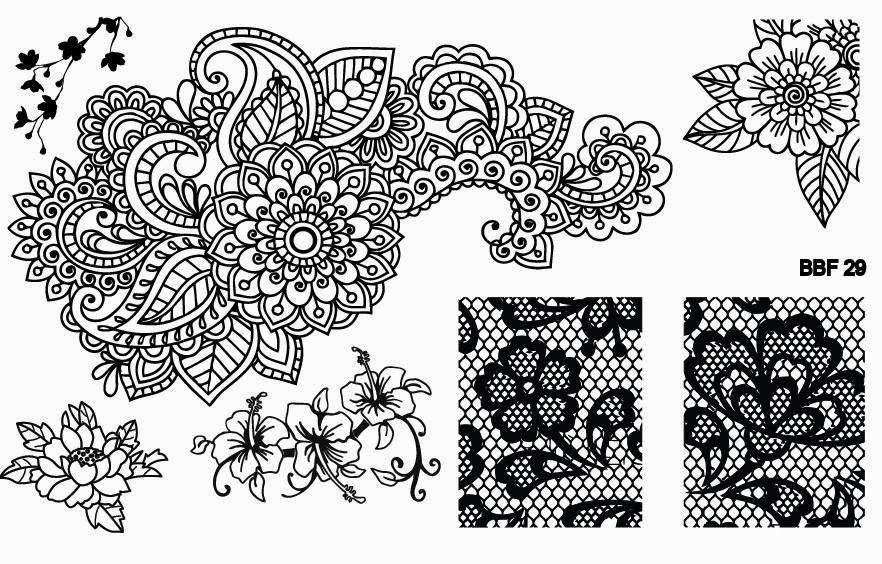 Hot Off The Stamping Press New Loja Bbf Nail Art Plates