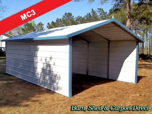 Drive Thru Boxed Eave Carport 12 X 21 X 6 Metal Farm Buildings Carport Designs Carport
