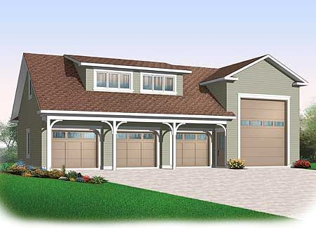Plan 21926dr 4 Car Rv Garage Rv Garage And Rv