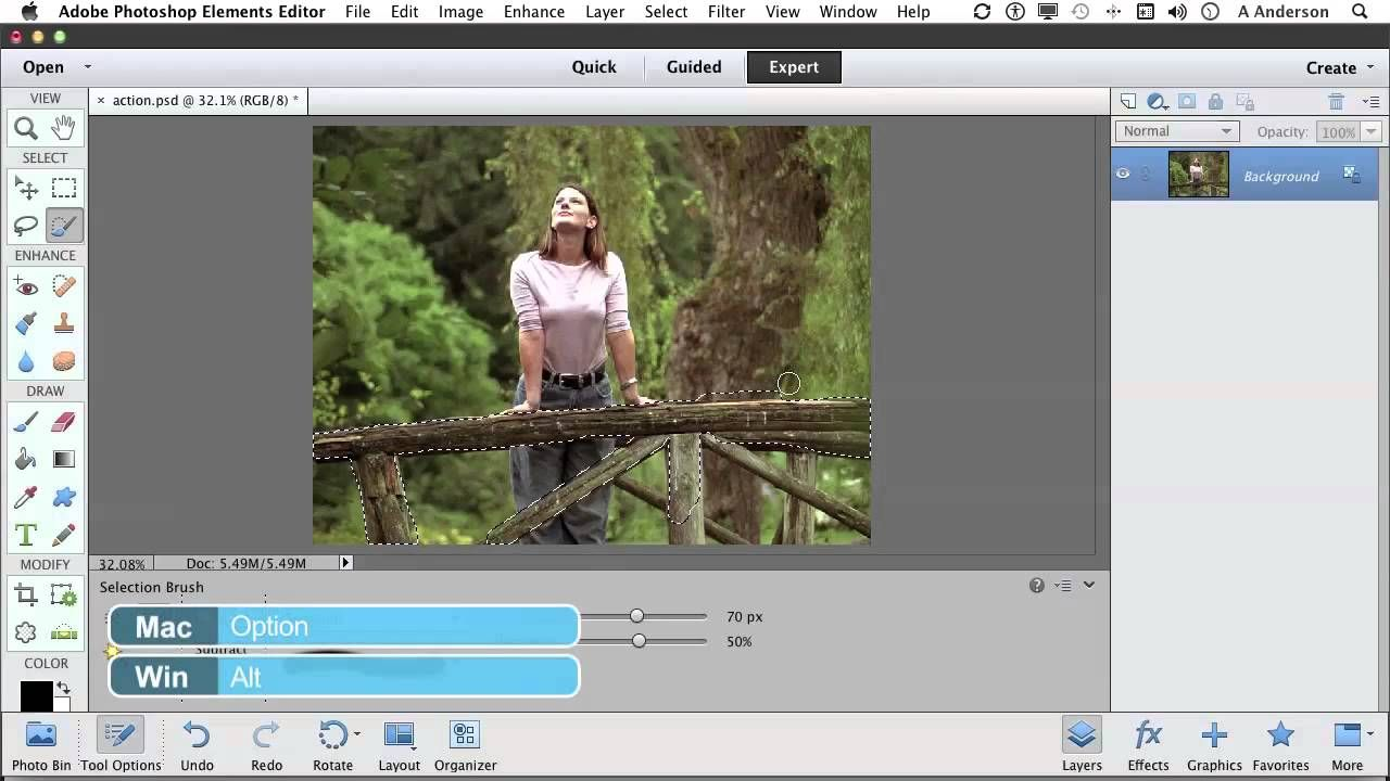 Photoshop Elements 11 Tutorial Painting A Selection With The