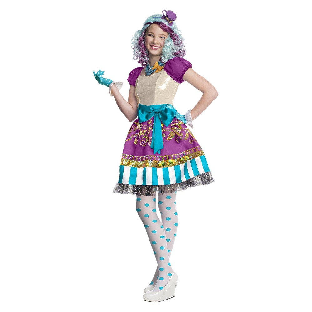 halloween ever after high girls' madeline hatter costume x-large