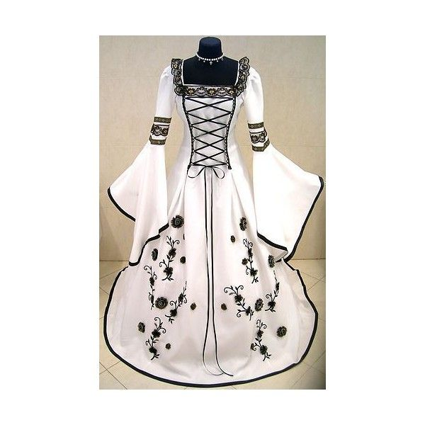 MEDIEVAL WEDDING DRESS VICTORIAN 12 14 S M GOTHIC FANCY PIRATE LARP... ? liked  sc 1 st  Pinterest & MEDIEVAL WEDDING DRESS VICTORIAN 12 14 S M GOTHIC FANCY PIRATE LARP ...