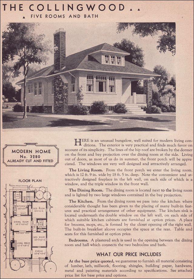 1936 Hillsboro Sears Roebuck Kit Houses Modern Bungalow New House Plans House Plans Vintage House Plans