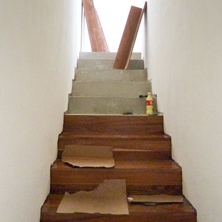 Clad A Staircase With Wood Stair Makeover Concrete Stairs Diy Stairs