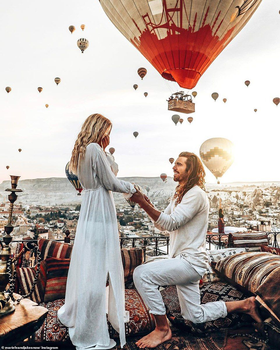 Photographer Stages Elaborate Proposal Featuring 100 Hot