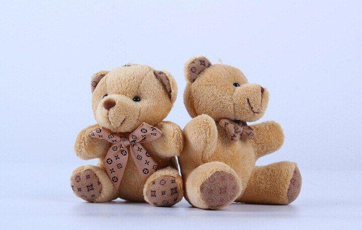 Cutest Small Teddy Bears Plush Toys 10cm Light brown