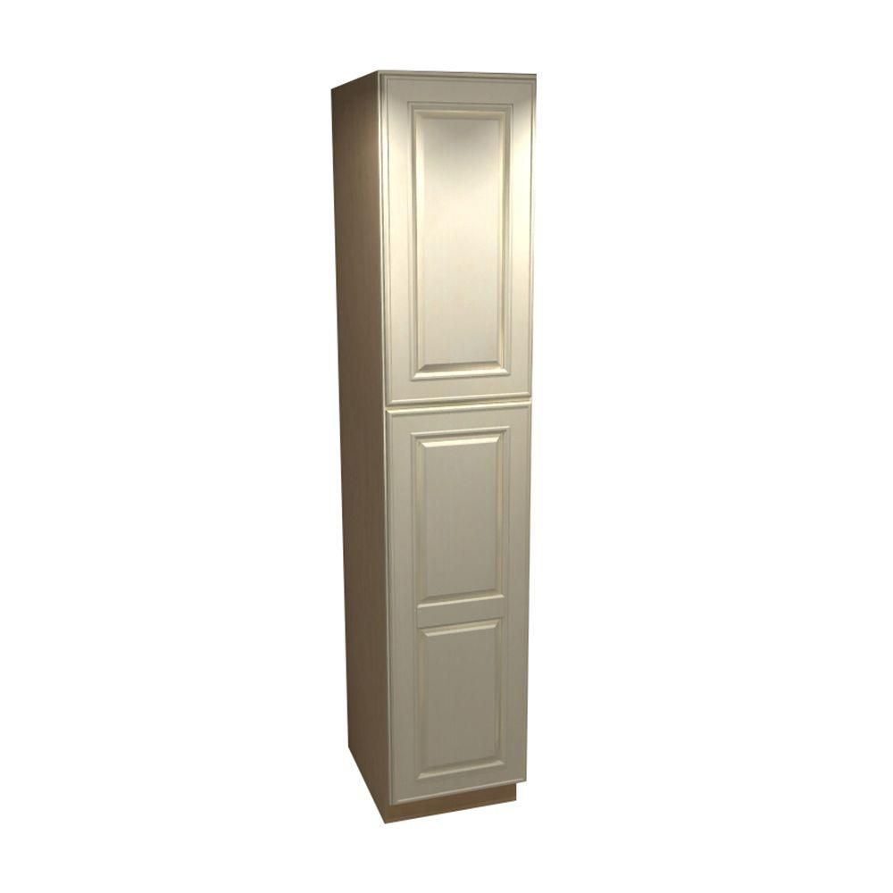 Home Decorators Collection Holden Assembled 18 X 84 X 21 In Pantry Utility Cabinet With Doors Hinged Left In Bronze Glaze Vlc182184l Hbg The Home Depot Single Doors Utility Cabinets Home Decorators Collection