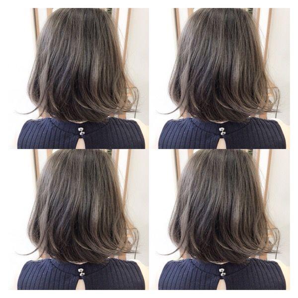 9トーン アッシュグレー 2019 秋冬 ヘアカラー ヘアカラー 髪 色
