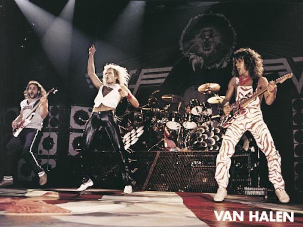 Official Van Halen Live Shot Poster Van Halen Eddie Van Halen Alex Van Halen