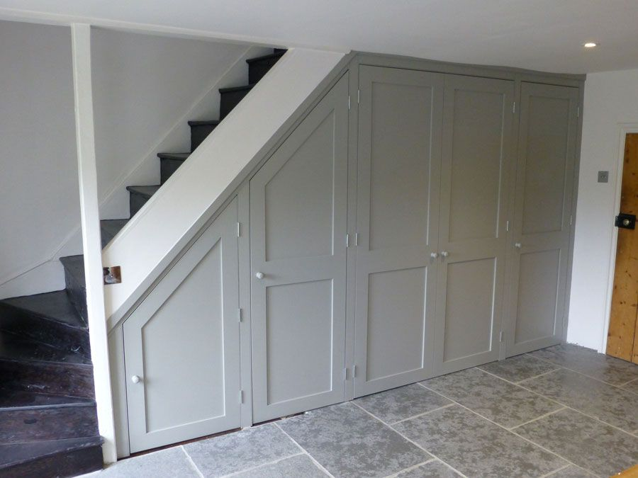 Cupboard Painted In Farrow And Ball Lamp Room Grey