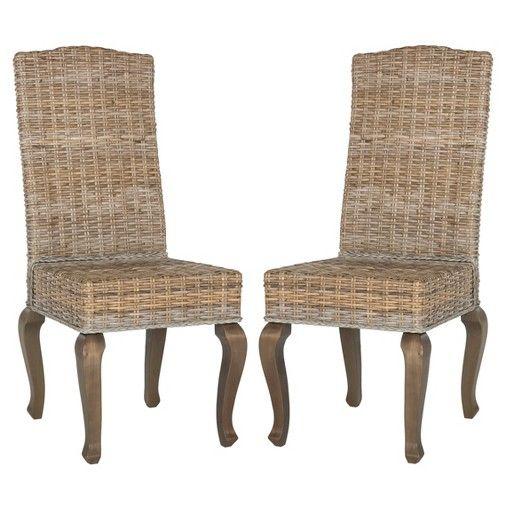 Safavieh Milos Wicker Dining Chair Set Of 2
