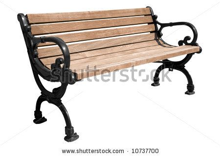 isolated park bench | Park Bench Isolated Over A White Background Stock Photo 10737700 ...