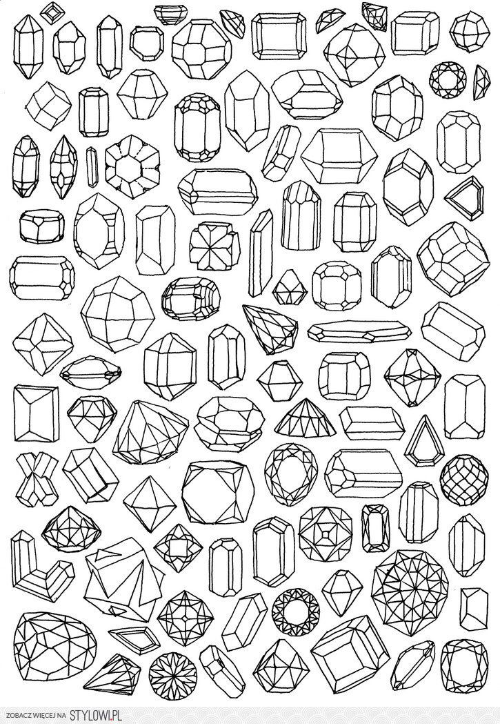 Shine Bright Like A Diamond Coloring Pages Drawings Sketch Book