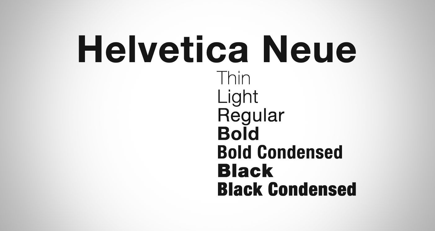Helvetica Neue is a reworking of the typeface with a more