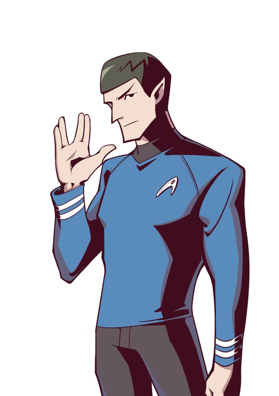 STAR TREK Art – Spock and Captain Kirk by Woshibbdou ... |Drawing Cute Cartoon Star Trek Kirk