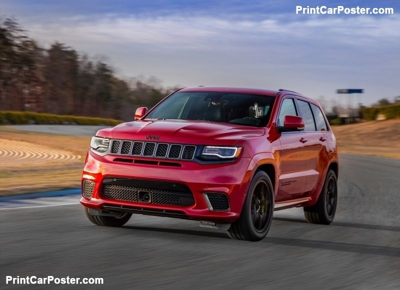 Jeep Grand Cherokee Trackhawk 2018 Poster Jeep Grand Cherokee