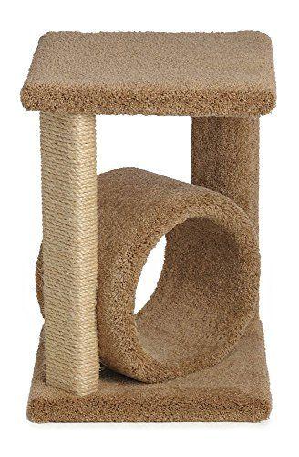 24 Inch Corner Cat Perch with One Sisal Leg (Beige) – Cat Supplies