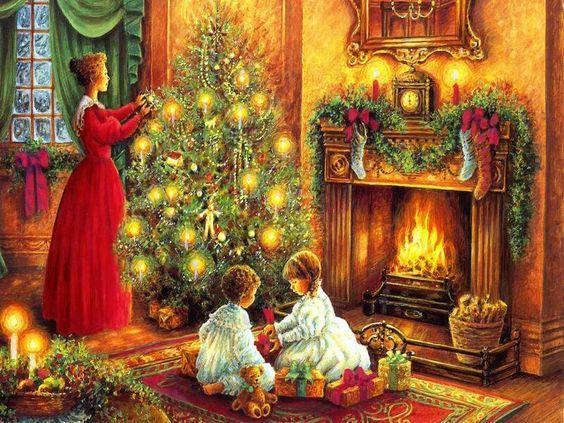 Fireplace Christmas Wallpapers Christmas scenes and Christmas
