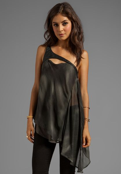 Nicholas K Gray Etsy Top in Charcoal