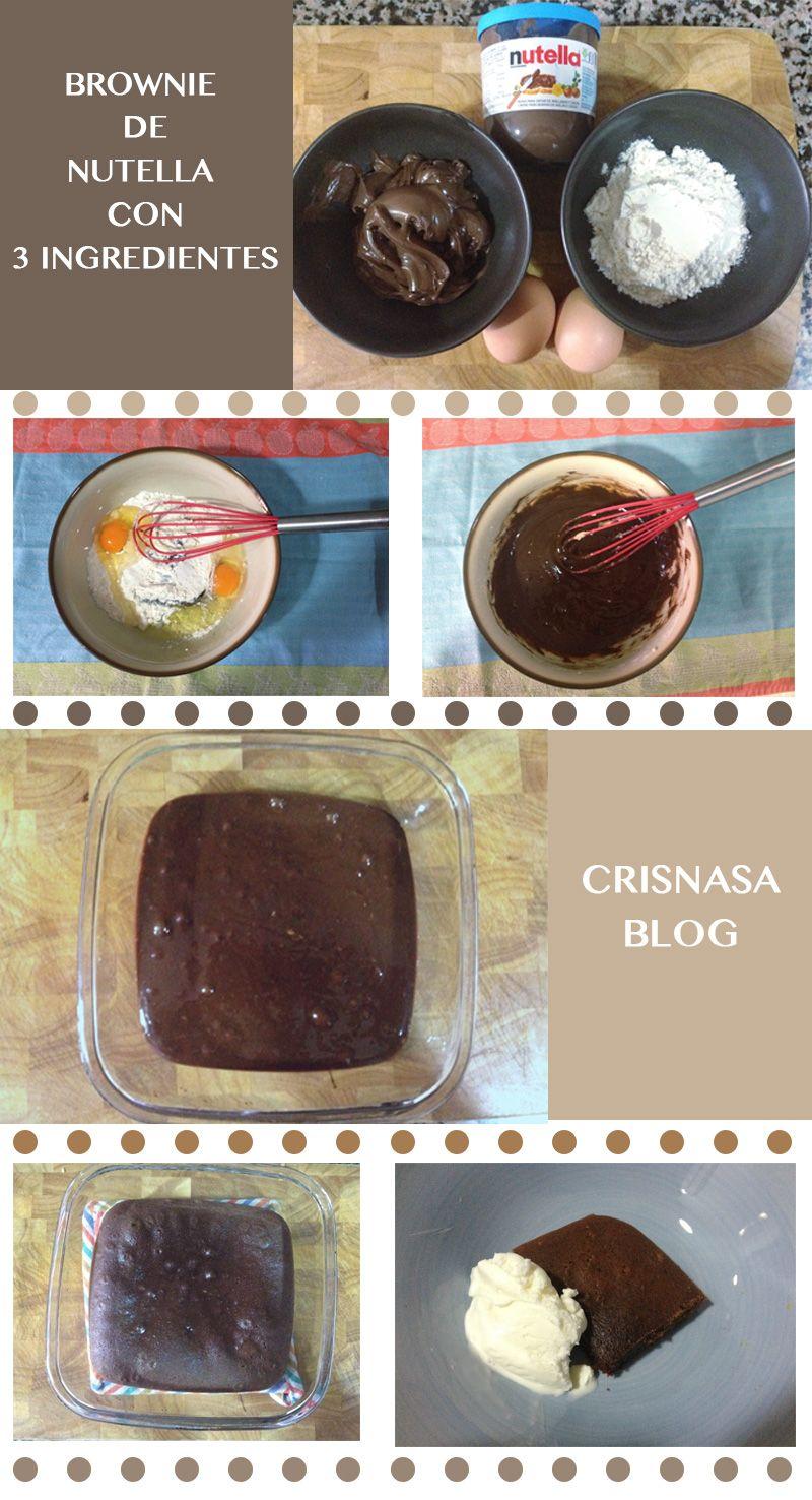 Brownie De Nutella Para Hacer Con Niños Nutella Brownies Recetas De Comida