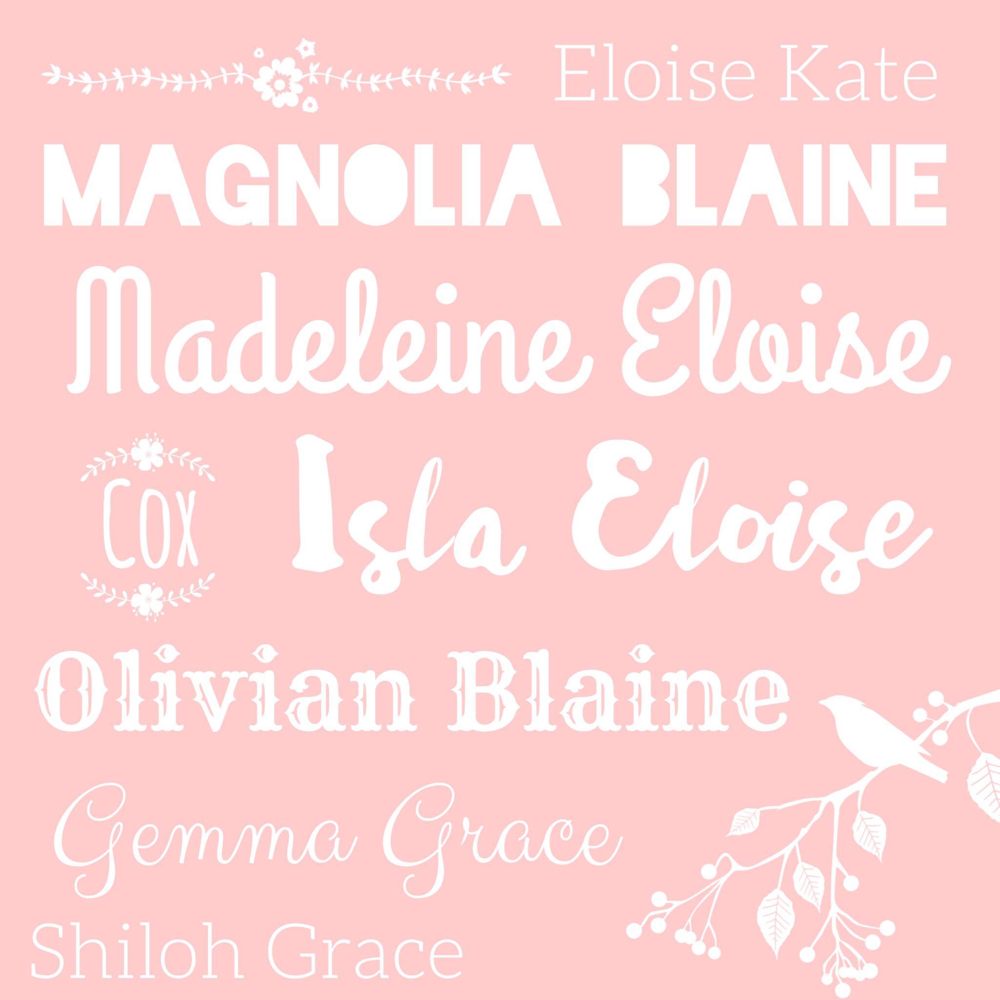 Unique Girl Names classy, vintage, beautiful