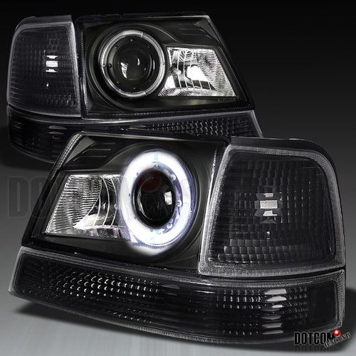 98 00 Ford Ranger Halo Projector Headlights Turn Signal Corner Lamps Black Carros Ford