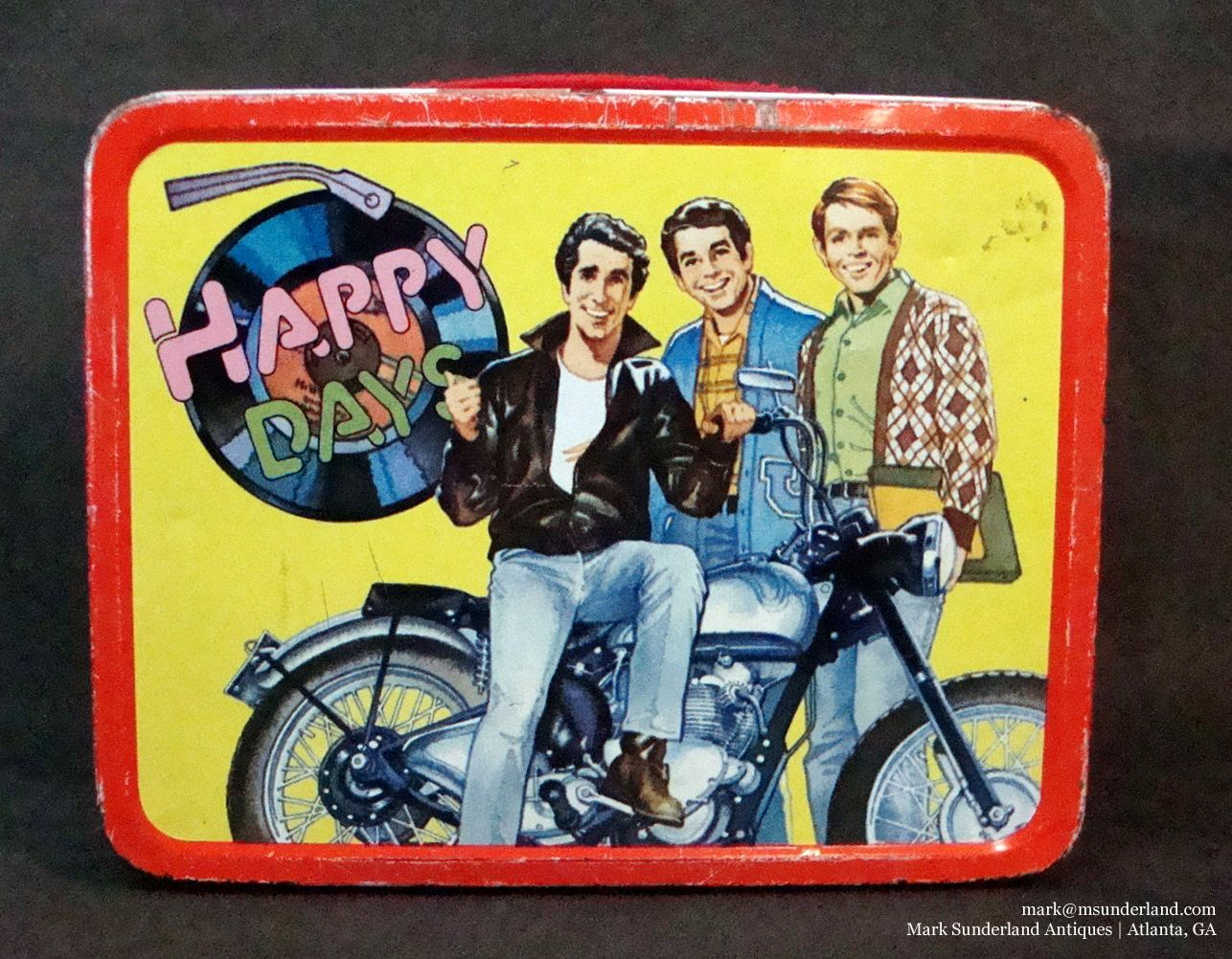 The Fonz Happy Days Tin Tote Lunchbox