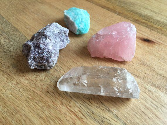 Raw Crystals And Stones Raw Crystals Amazonite Rose Quartz