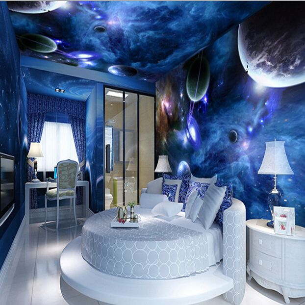 22 Space Themed Room Design Ideas For A New Atmosphere In Your Home Space Themed Bedroom Galaxy Bedroom Space Themed Room