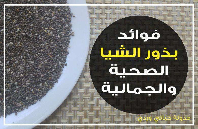 فوائد بذور الشيا الصحية Chia Seeds Benefits Seeds Benefits Chia Seeds Seeds