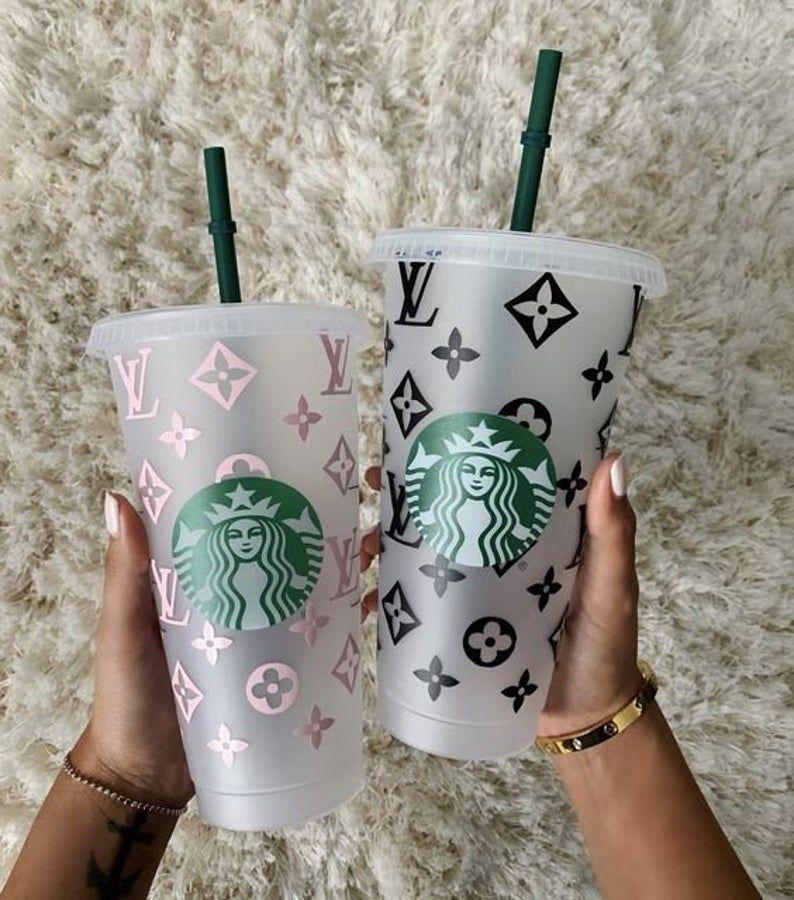 Monogram Starbucks Cold Cup Personalized Christmas Gift Custom Gift Stocking Stuffer Custom Tumbler In 2020 Starbucks Cup Gift Custom Starbucks Cup Pink Starbucks Cup