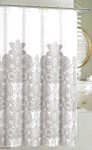 Fabric Shower Curtains for Bathroom Printed Cloth Medallion Damask Design