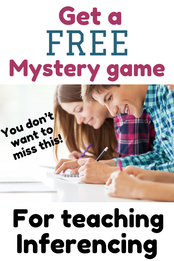 Get a FREE mystery game for teaching inferencing. Your