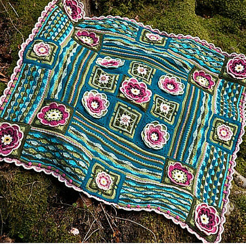 [Free Pattern] Romantic Lily Pond Crochet Blanket ...