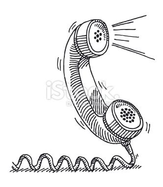 Hand Drawn Vector Sketch Of A Classic Telephone Receiver An Active Drawings Nutrition Recipes Telephone Drawing