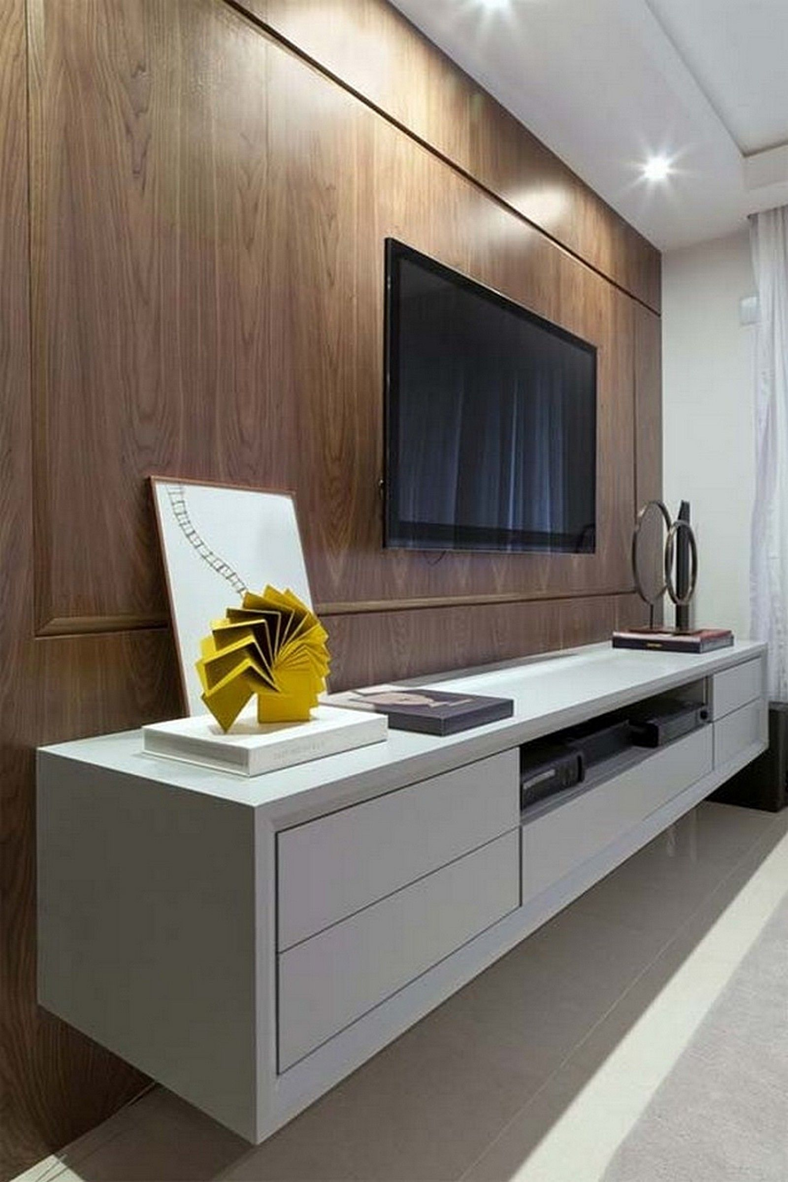 ikea besta floating wall unit in high gloss white with back paneling ikea pinterest. Black Bedroom Furniture Sets. Home Design Ideas
