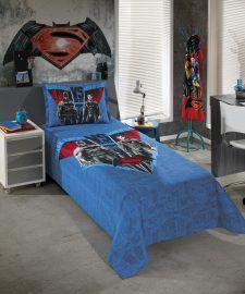 Colcha Solteiro Infantil Batman x Superman
