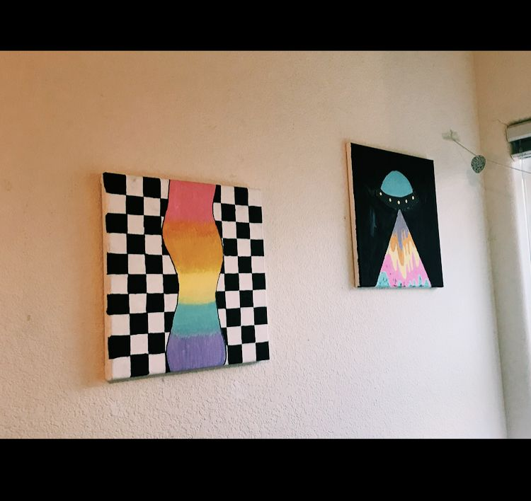 Trippy Paintings Trippy Painting Small Canvas Paintings Hippie Painting If you add another piece of acrylic that is hinged on top, you can use this as a light box/tracing table and let the. trippy painting small canvas paintings