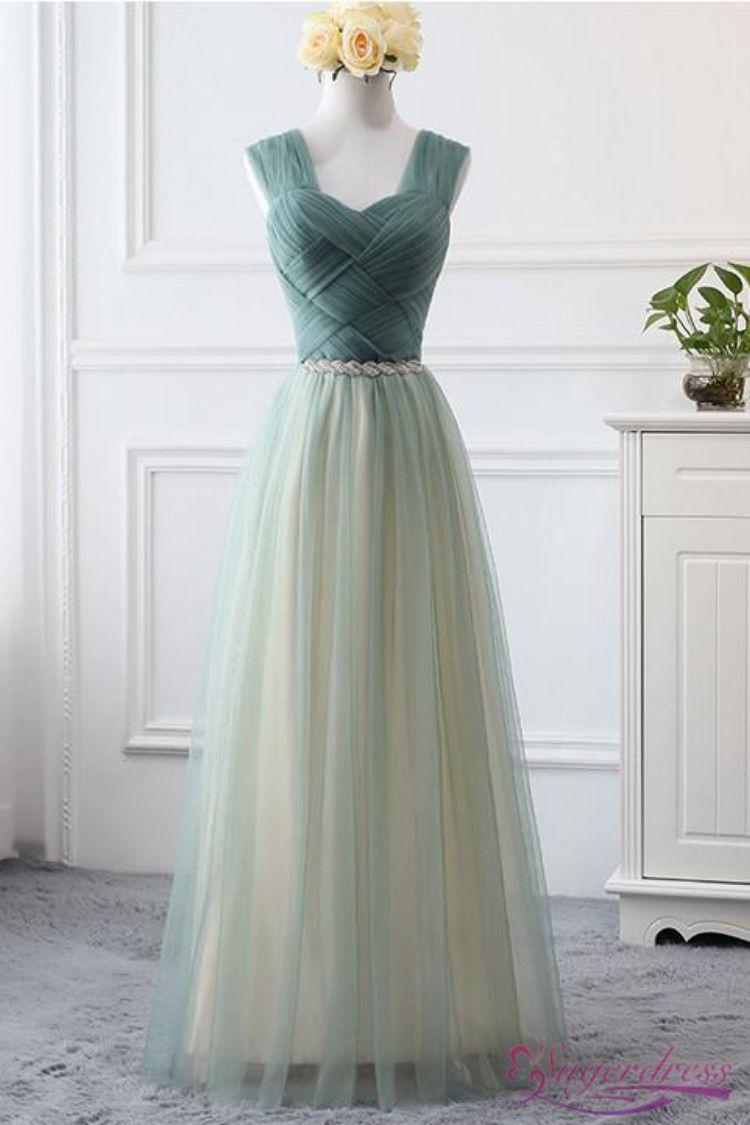 Pleated Mint Green Bridesmaid Dress Prom Dress With Lace Up Back Mint Green Bridesmaid Dresses Prom Dresses Sleeveless Dresses [ 1125 x 750 Pixel ]