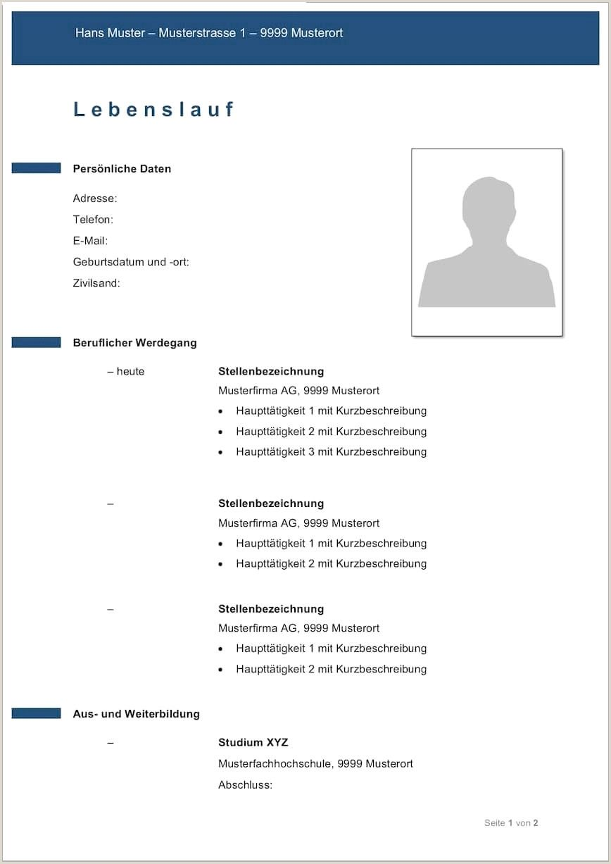Lebenslauf Muster Yousty In 2020 With Images Resume Template