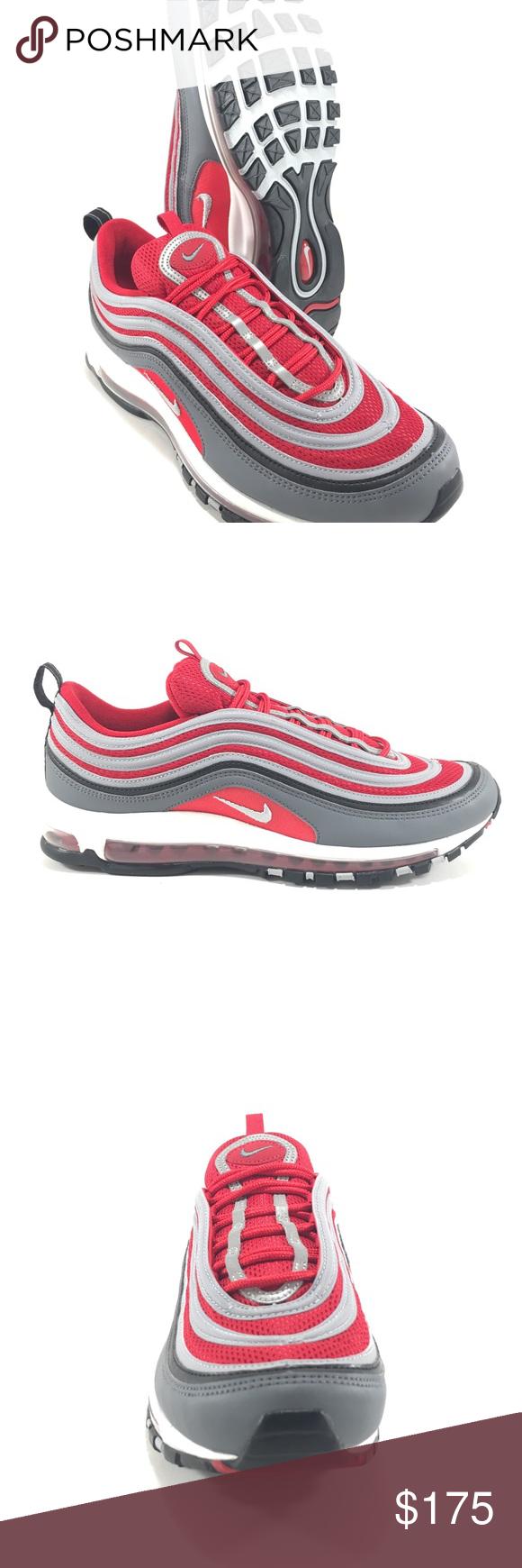 Nike 921826 007 Air Max 97 Dark GreyWolf GreyGym RedWeiß