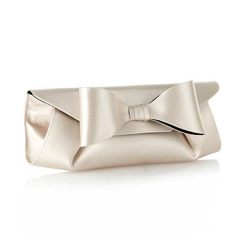 Principles by Ben de Lisi Light Gold Oversized Bow Clutch