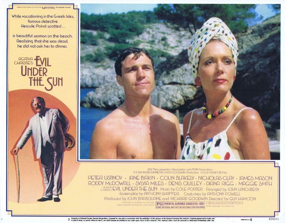 Evil Under The Sun Lobby Card 5 Peter Ustinov Diana Rigg Nicholas