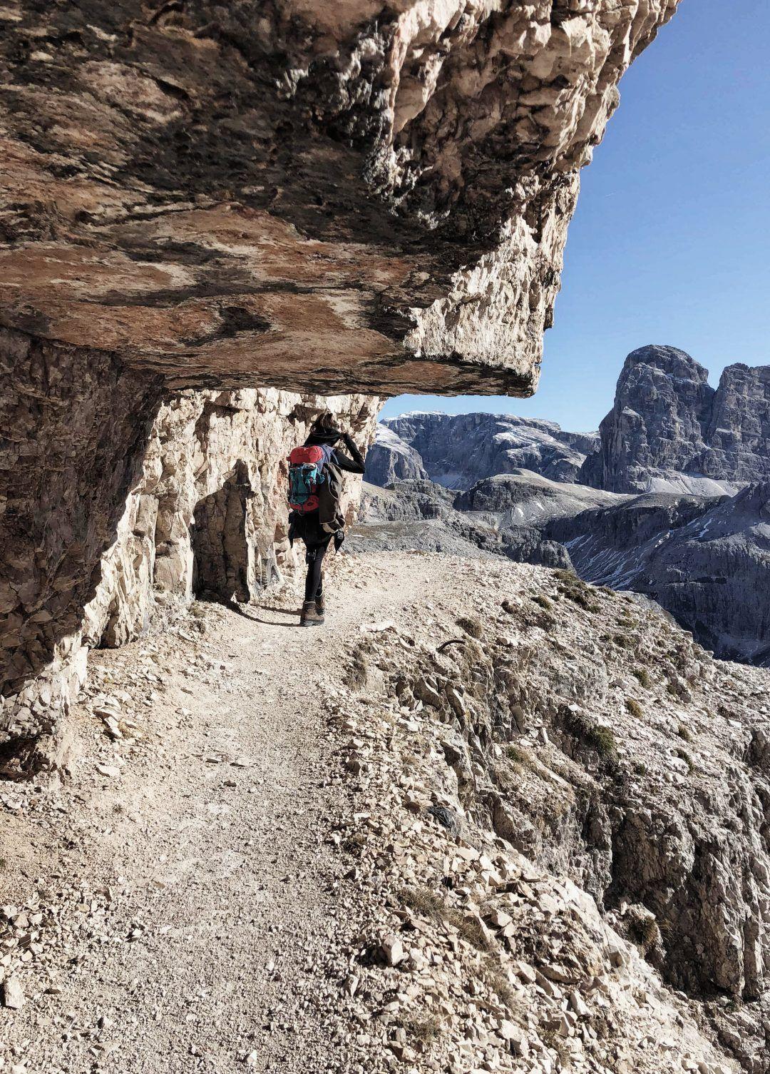 Wanderung & Klettersteig Paternkofel mit Drei Zinnen Blick | Südtirol