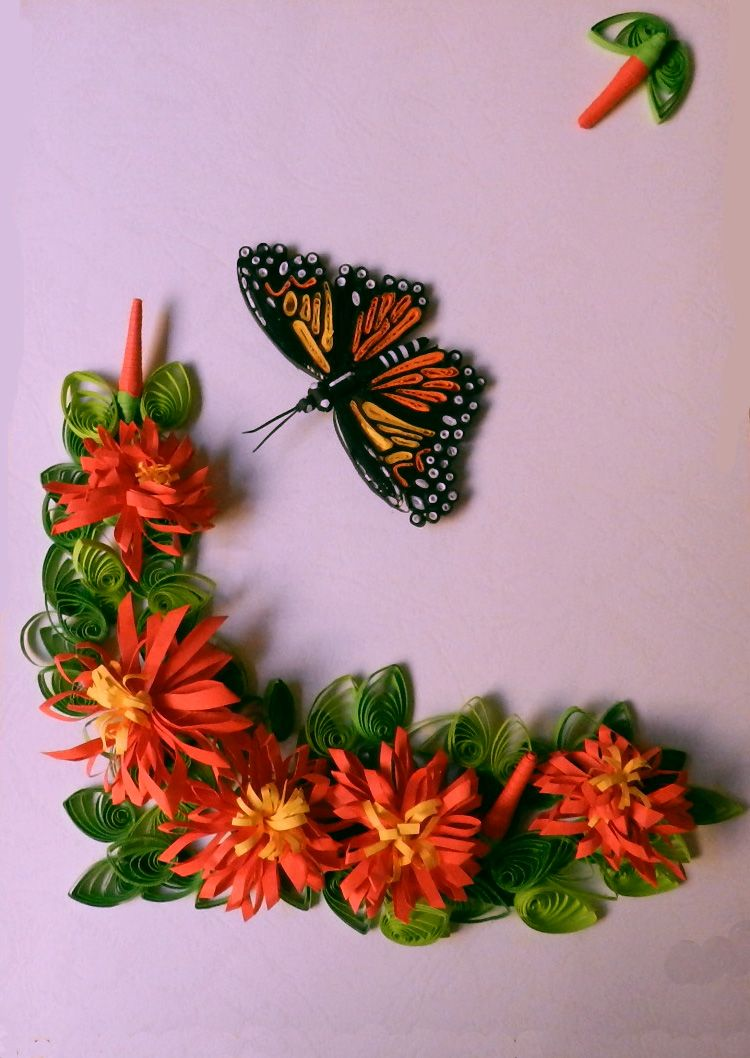 A Journey Into Quilling And Paper Crafting Butterfly Flowers