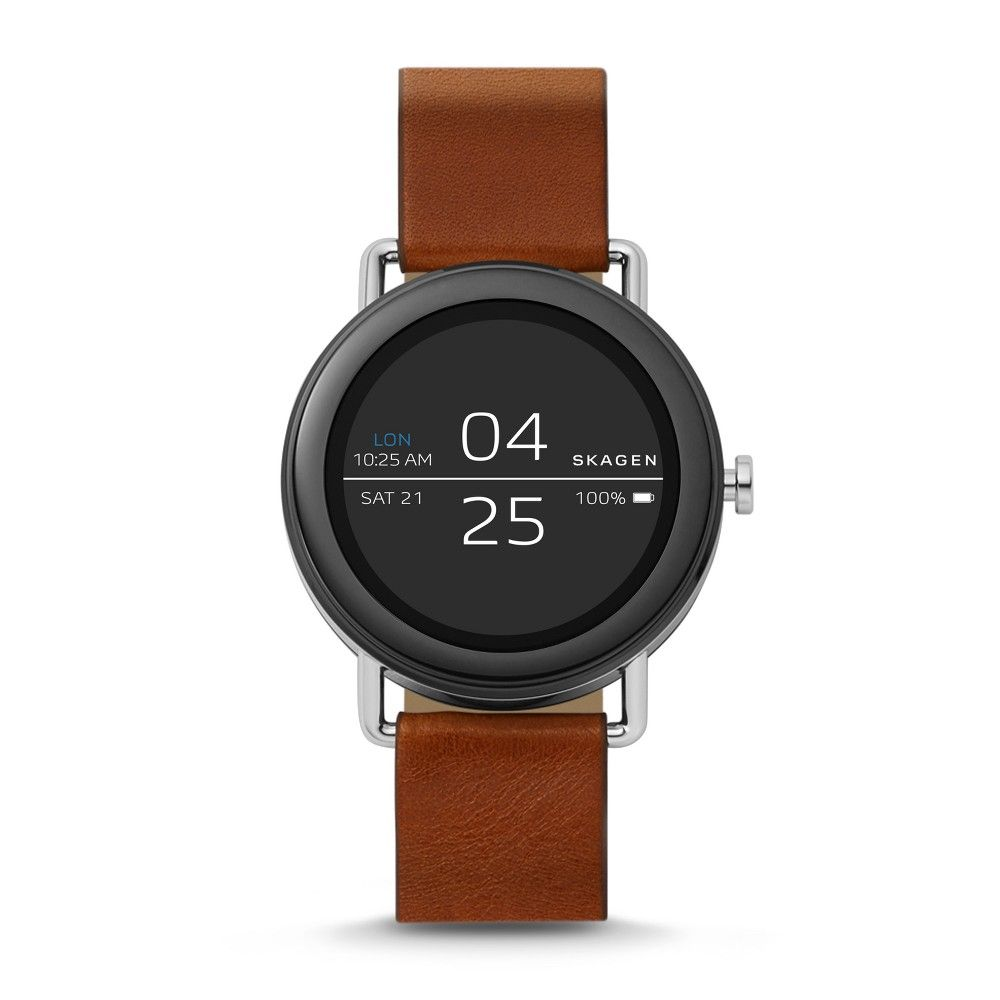 Skagen Connected Smartwatch Falster Brown Leather, Size