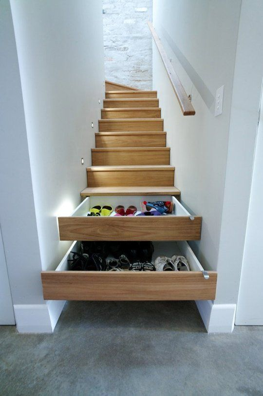 14 Smart Shoe Storage Solutions No More Piles Stair Storage