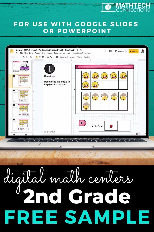 2nd Grade Google Slides Free Math Powerpoint Math Interactive Math Centers